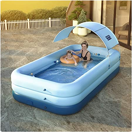 Inflatable Kiddie Pools,Family Swimming Pool for Kids Babies Outdoor T Swimming Pool,Above Ground Pools,Inflatable Pools Backyard 110 88 33 cm Adults Garden Toddlers