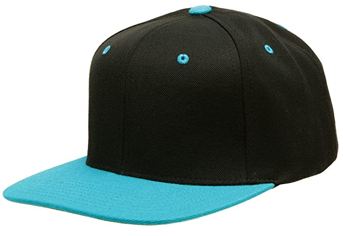 cb02c4d530f4d Image Unavailable. Image not available for. Color  Original Yupoong  Two-Tone Pro-Style Wool Blend Snapback Snap Back Blank Hat Baseball