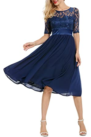 Teamyy Damen Kleid Ballkleid Cocktailkleid Abendkleid Brautkleid ...