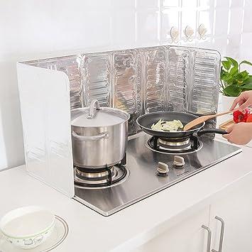 sunwon® Plegable platos cocina barbacoa cubre Gas estufa viento Escudo placa deflectora aceite protector de picnic al aire libre cocina accesorios: ...