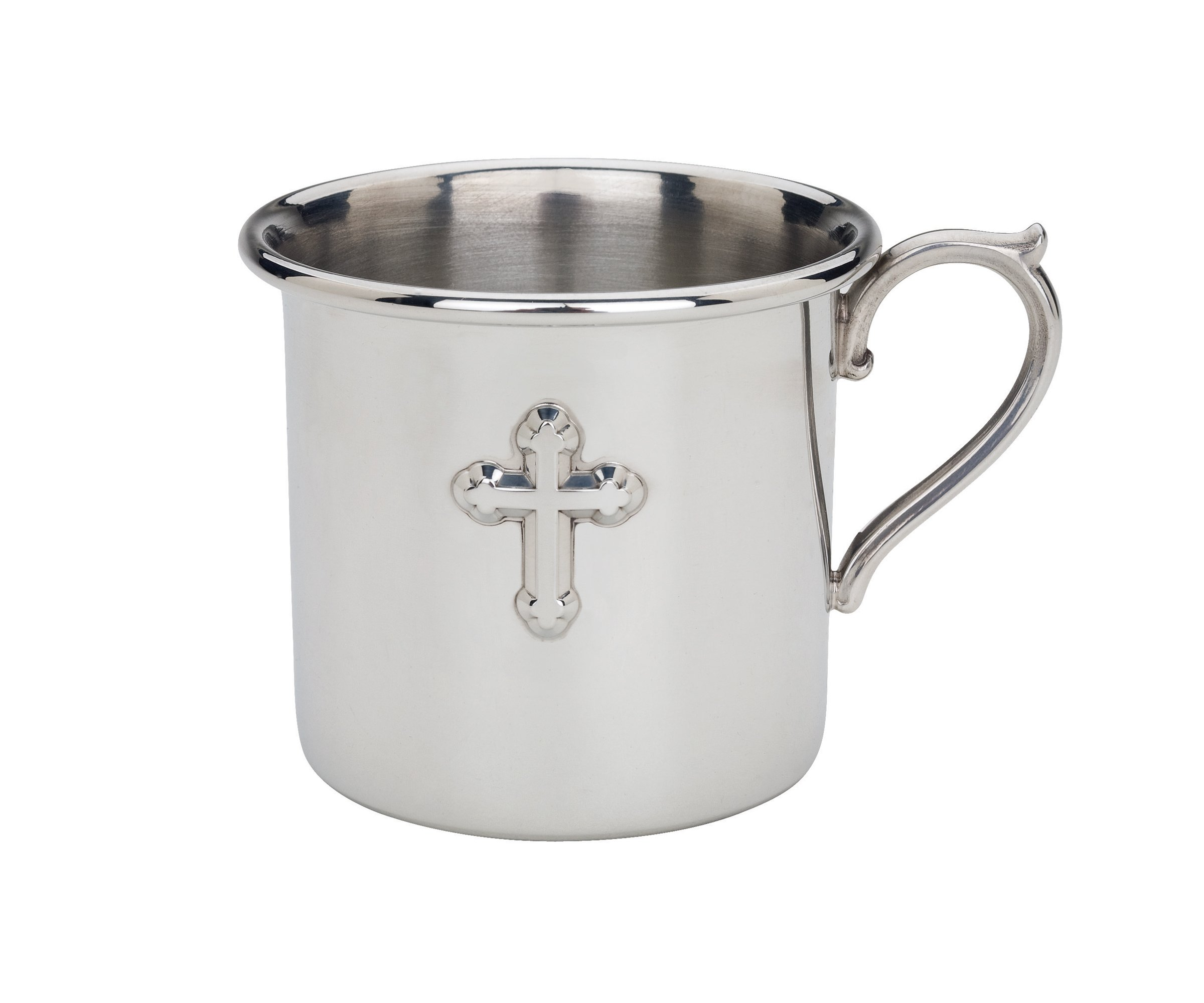 Reed & Barton Pewter Baby Cup, Cross, 6 Ounce