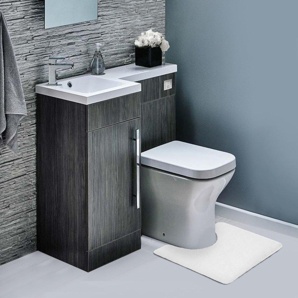 Memory Foam Contour Bathrug – White, Bath Mat and Shower Rug