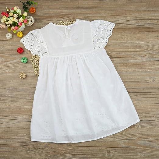 Amlaiworld Robe de Filles Enfants Filles Robe dimpression Florale Robe de Dentelle Princesse Creuse Robe de V/êtements pour 1-6 Ans Fille