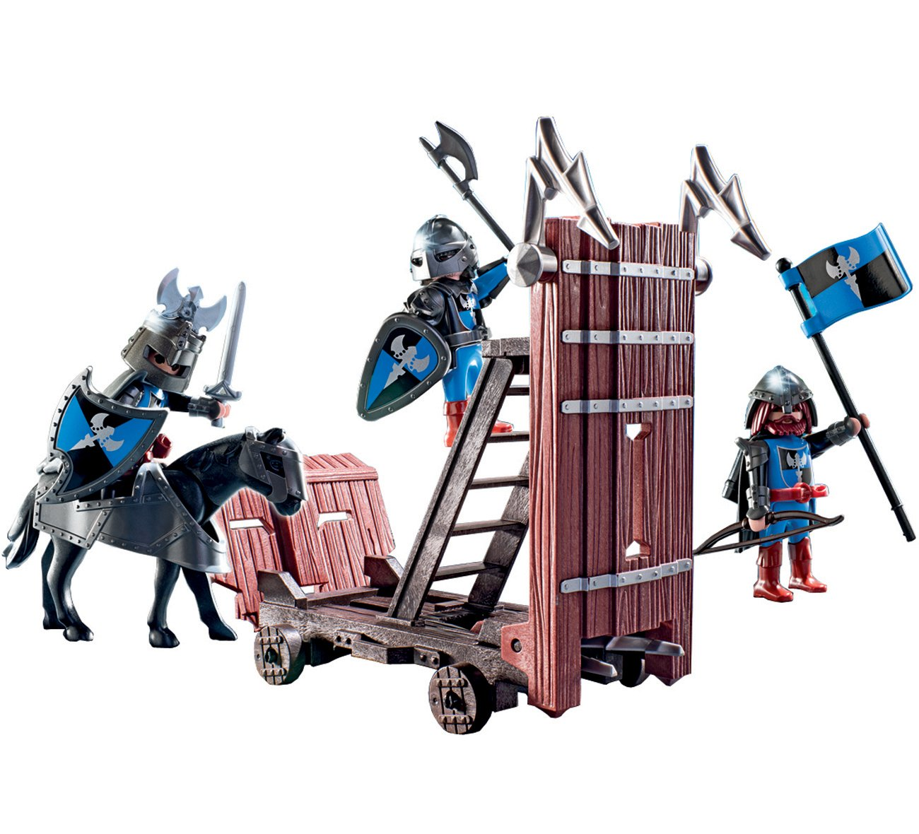 PLAYMOBIL Blue Knights with Battering Ram