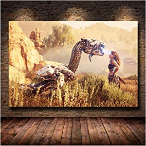 Sanwooden Popular Online Game Horizon Zero Dawn Game HD Print Poster Canvas Painting Living Room Bedroom Decor-24x36 in No Frame