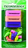 Dixon Ticonderoga Office and School Eraser Combination Set, 15 Eraser Multi-Pack, Multicolored (38931)