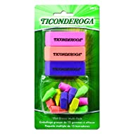 Dixon Ticonderoga Office and School Eraser Combination Set, 15 Eraser Multi-Pack, Multicolored (38931)