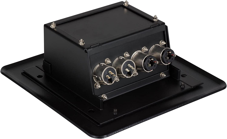 Parts Express Pop Up Stage Box with Four XLR Female Jacks