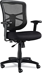 Alera EL42BME10B Elusion Series Mesh Mid-Back Swivel/tilt Chair, Black