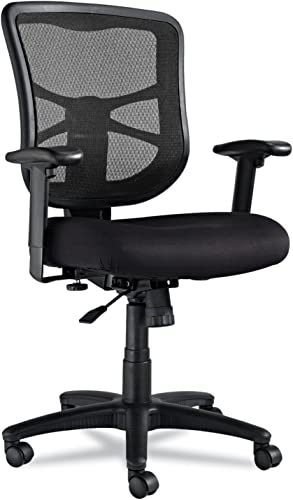 Alera EL42BME10B Elusion Series Mesh Mid-Back Swivel/tilt Chair