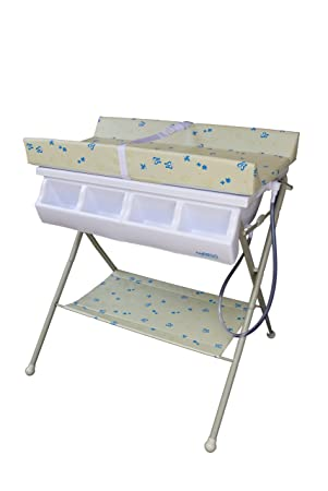 Baby Diego Bathinette Bath And Changer Combo, 1 Pack, Neutral Beige And Blue