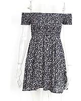 keliang fora do ombro floral verão dress vintage cintura alta beach dress mulheres NEW sexy vestidos