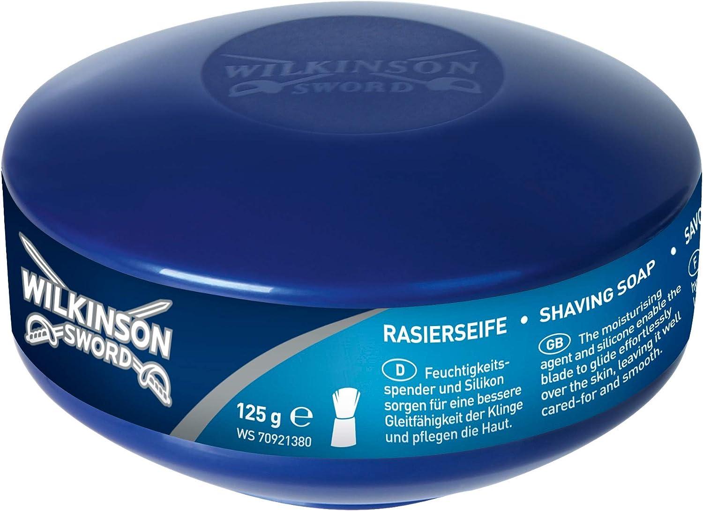 Wilkinson Sword Shaving Soap - Jabonera Clásica con Jabón de Afeitar, Afeitado Vintage, 125 Gr