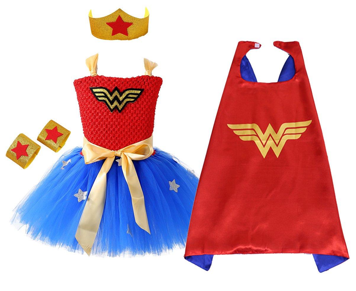 AQTOPS Tutu Dress Super Heroes Costume for Kids Medium