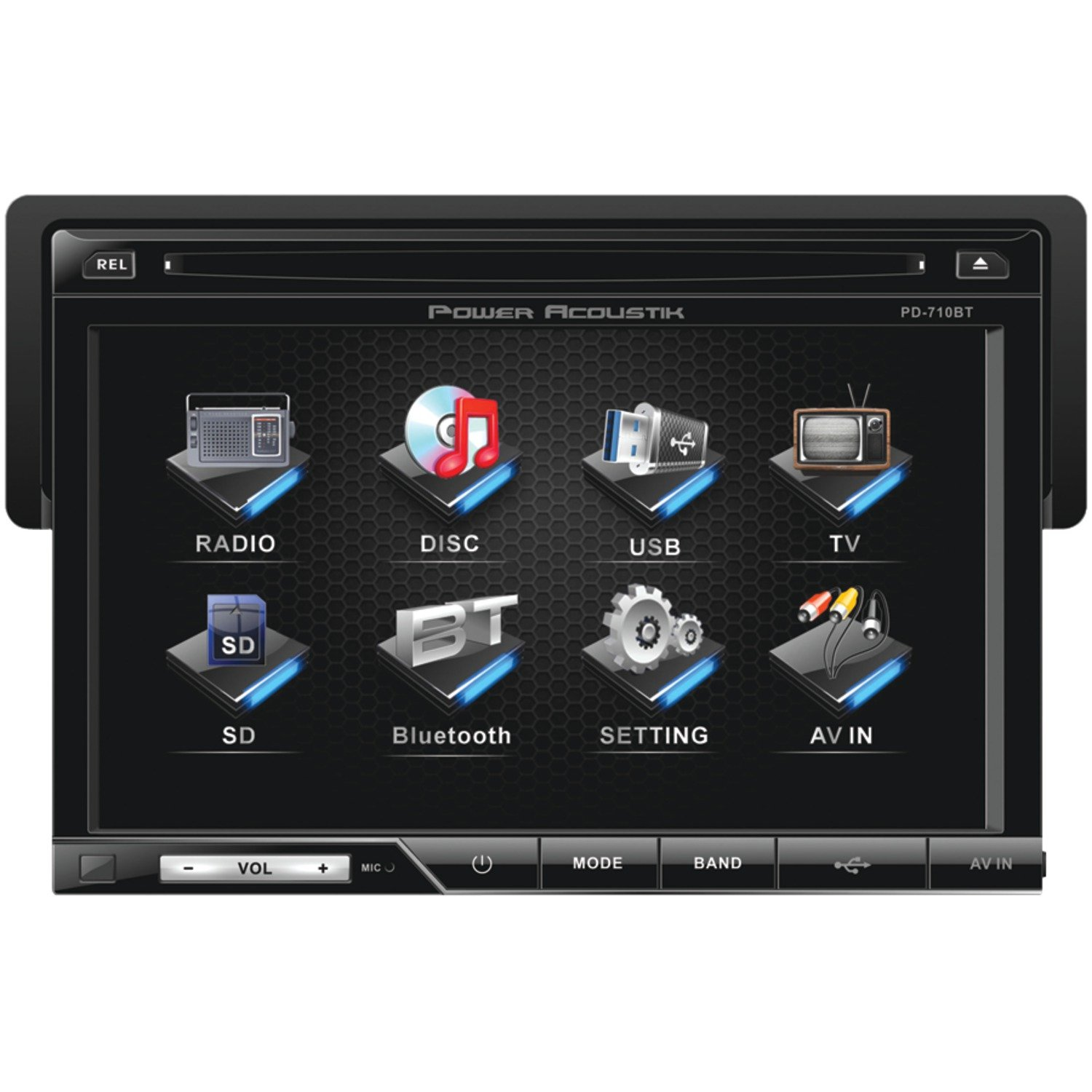 Amazon.com: Power Acoustik PD-710B Single-DIN Multimedia Source with  Detachable 7-Inch Oversize LCD Touchscreen including Bluetooth 2.0: POWER  ACOUSTIK: Car ...