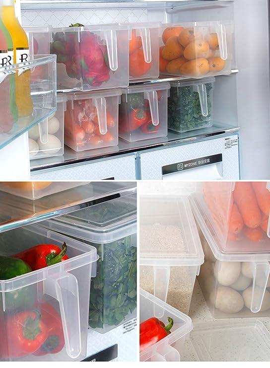 seamoon 2pcs apilado de frigorífico congelador bandejas con asas ...