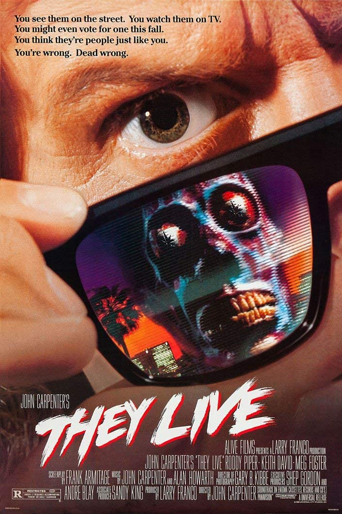 "Amazon.com: They Live - Movie Poster 24""x36"" (Roddy Piper) New. Ships  Rolled In Shipping Tube.: Posters & Prints"