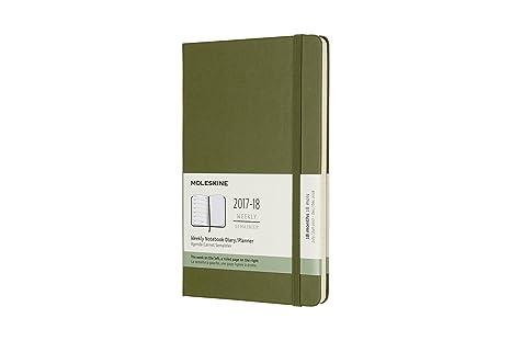 Moleskine DHK1618WN3Y18 - Agenda semanal 2017-2018, 18 meses, tapa dura, color verde