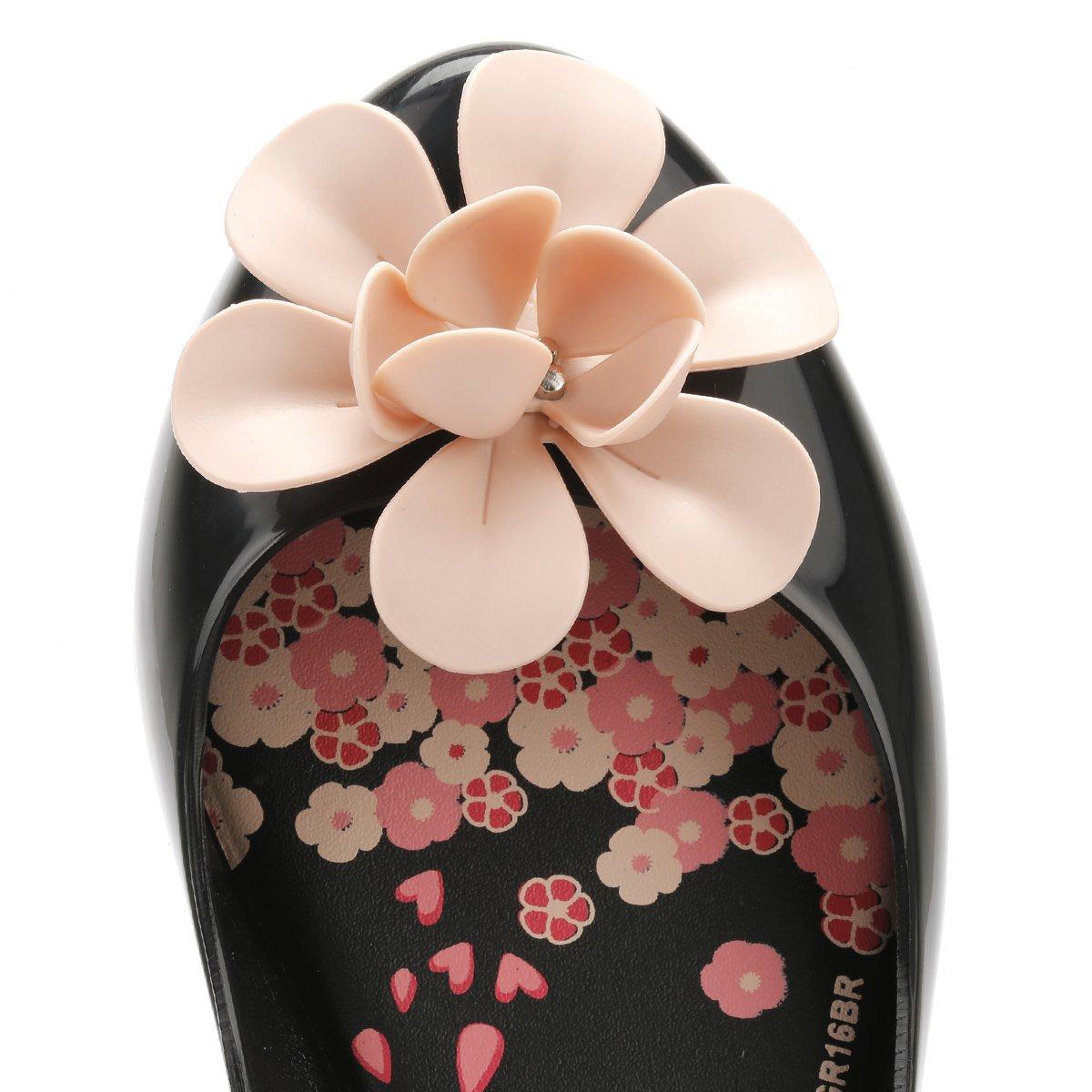 Zaxy - Mocasines de pvc para niña negro Black Contrast, color negro, talla 2.5 UK: Amazon.es: Zapatos y complementos