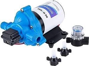 DC HOUSE RV Water Pump 3.0 Gallons/min (11.6 Lpm) | 12 Volt DC | Self Priming Transfer Pump for RV/Marine Camper Sprayer