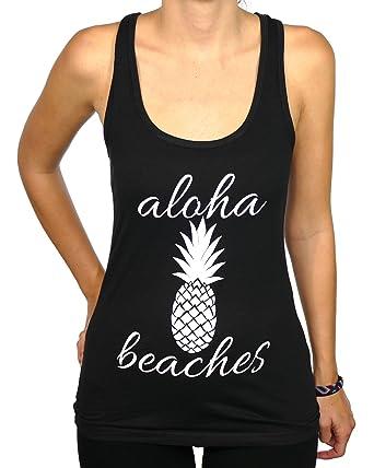 259c9c04b5 Shop Delfina Aloha Beaches Pineapple Summer Women's Tank Top Small