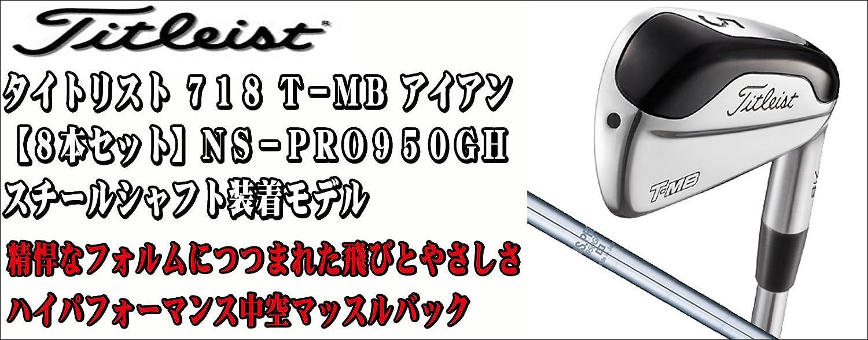 TITLEIST(タイトリスト) 718 T-MB アイアン8本セット (#3~PW) N.S.PRO 950GH スチールシャフト装着モデル B06XYF43H3
