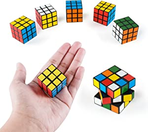 Super Z Outlet Mini Color 3x3 Cube Puzzle Game Toy for Party Favors (6 Pack) (6 Pack)