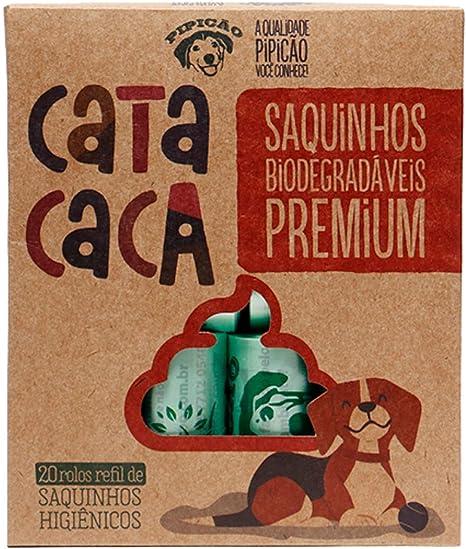 Kit 20 Rolos de Sacolas Biodegradáveis Cata Caca