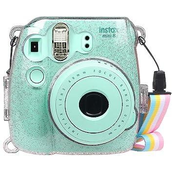 Fintie Funda para Fujifilm Instax Mini 9 / Mini 8+ / Mini 8 - Bolsa Protectora Transparente Brillante para Cámara Instantánea PVC Duro Cristal con ...