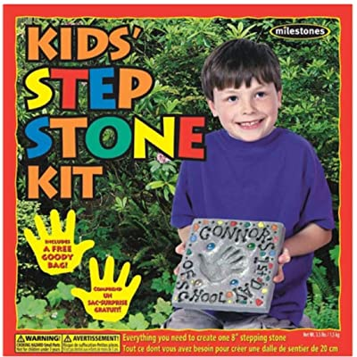 StoneCraft (90111232) 8 Inch Mosaic Stepping Stone Kit: Arts, Crafts & Sewing
