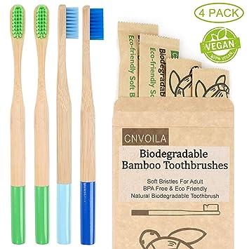 Cepillo de dientes de bambú, Cepillos de dientes ecológicos ...