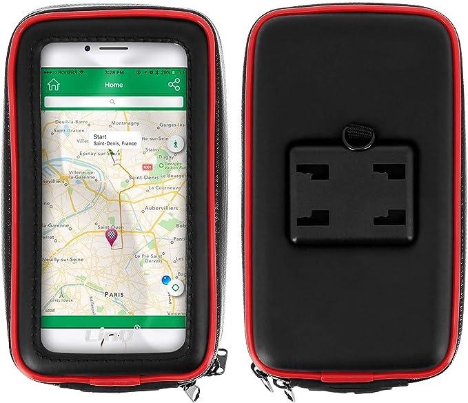 Linq - Soporte para Moto y Scooter + Funda Impermeable Universal para Smartphone de 4,7 Pulgadas, rotación máxima de 360°, Compartimentos para Tarjetas: Amazon.es: Electrónica