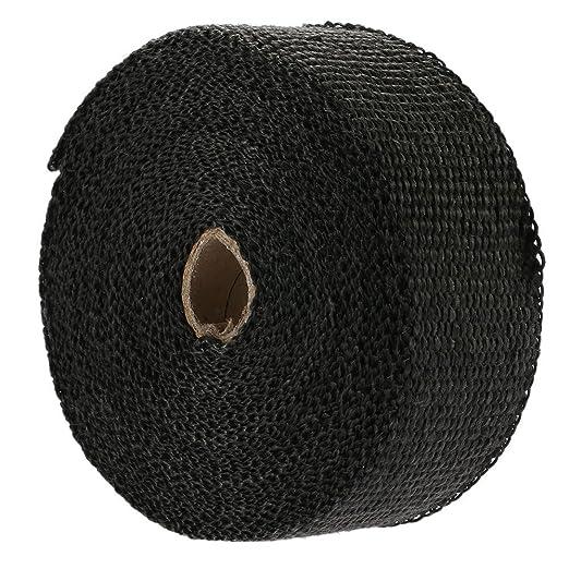 1,5/mm de Grosor Cable Ties y 6/ KKmoon 15/m Rollo de Cinta Aislante Wrap Turbo Pipe Wrap Aislante t/érmico de Calor de bajante de colector de Escape