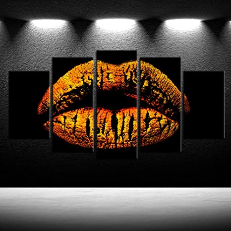 POP ART LIPS COLOURFUL CANVAS PICTURE PRINT WALL HANGING ART HOME DECOR
