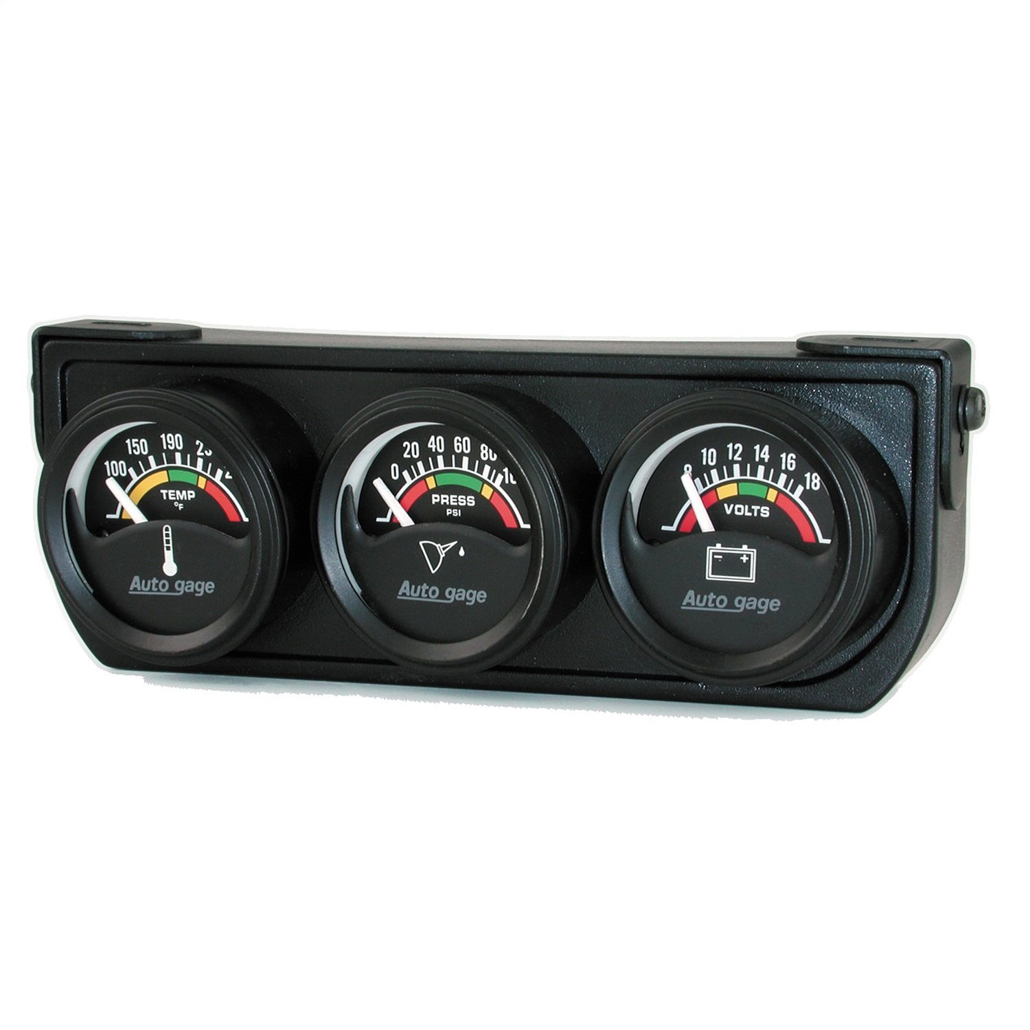 Auto Meter 2391 1-1/2' Short Sweep Electric Three-Gauge Console