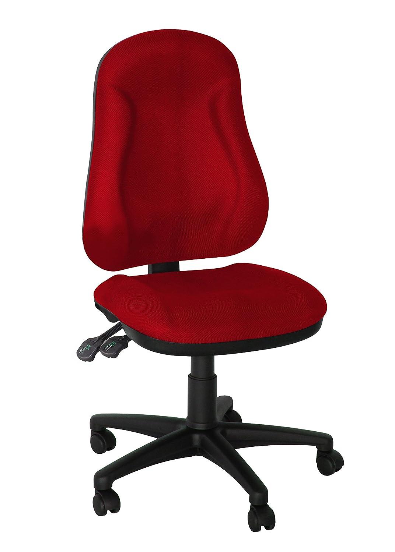 Topsit TP6000023 silla de oficina giratoria espalda, alta espalda, giratoria rojo 9a8932