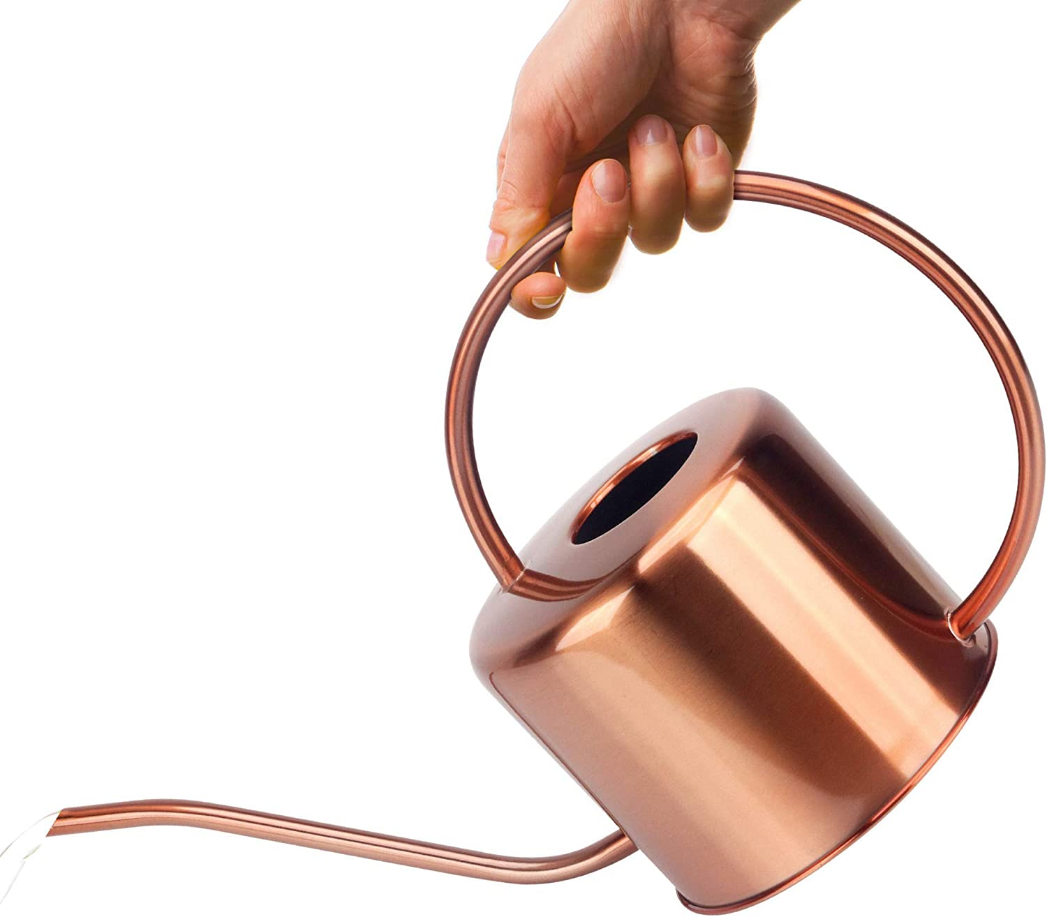 KIBAGA Decorative Copper Colored 40oz Watering Can - Easy Pour Gooseneck Spout for Fast and Easy Indoor Plant Watering