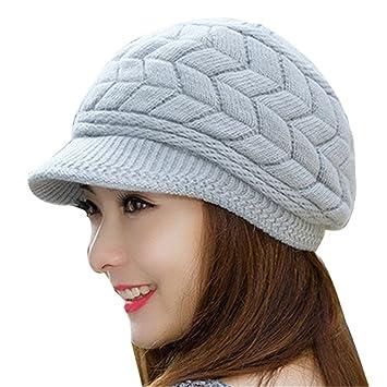 a748edb33 Gome-z Soft Winter Beanies Knit Women's Hat Winter Hats For Women Ladies  Beanie Girls