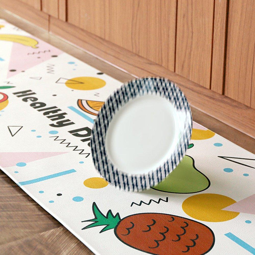 Ustide 2 Piece Creative Non-Slip Kitchen Mat Rubber Backing Doormat Runner Rug Set,Gourmet Kitchen Design (17.7''x29.5''+17.7''x59'')