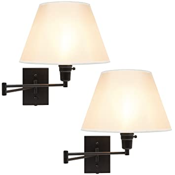 Best Choice Products Set Of 2 Swing Arm Wall Lamp Sconces For Living