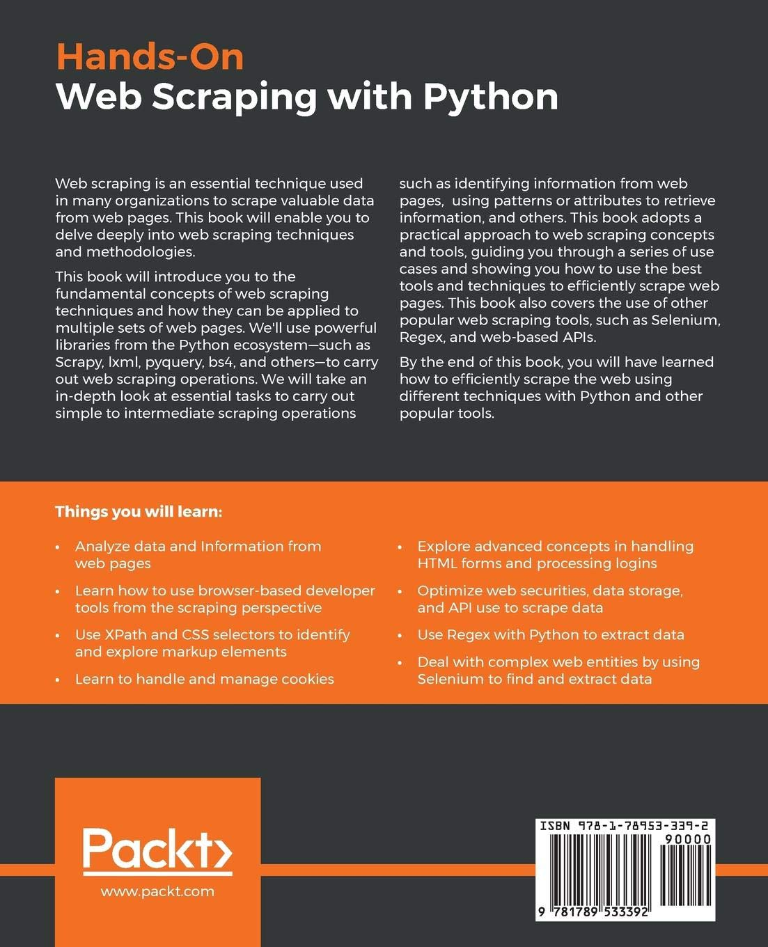 Buy Hands-On Web Scraping with Python: Perform advanced scraping