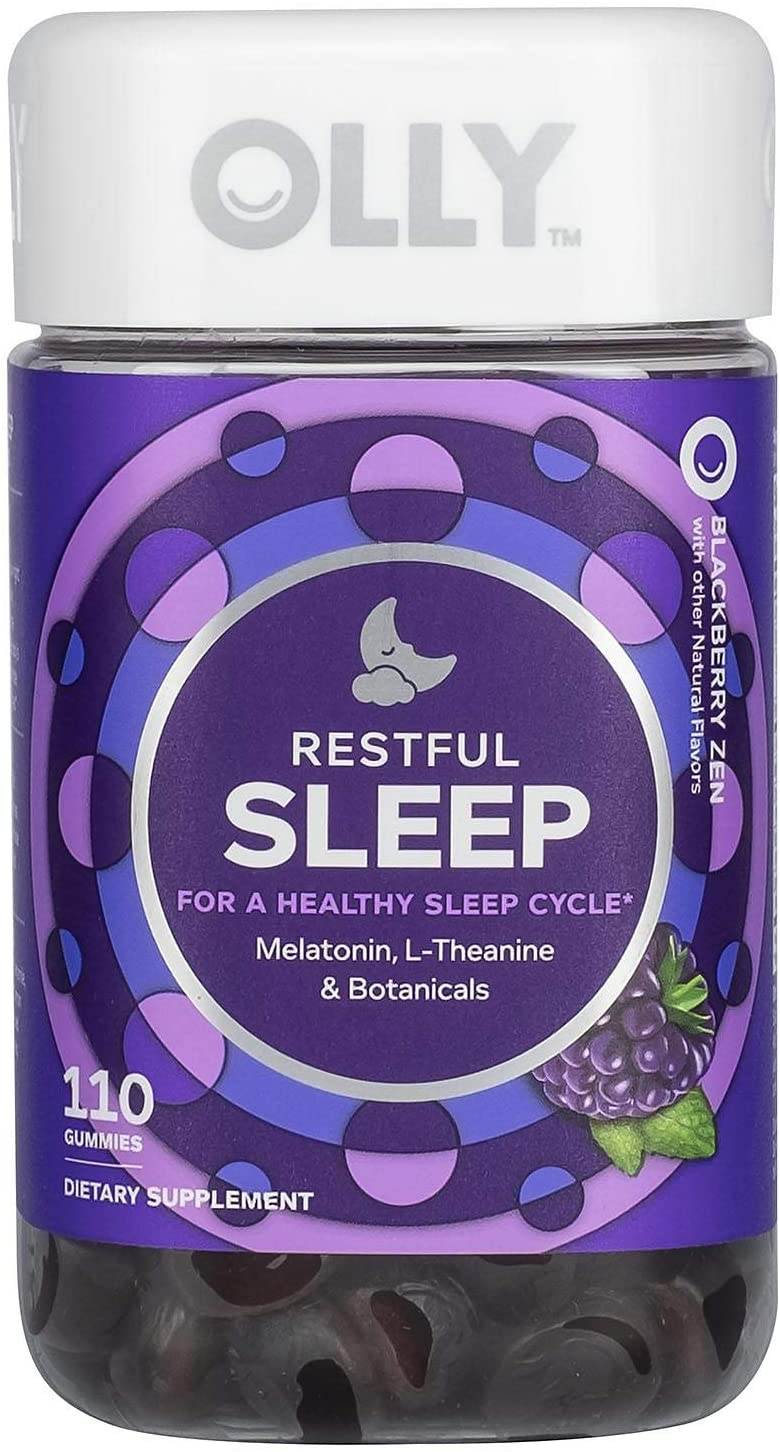 Amazon Com Olly Restful Sleep Gummy Supplement With Melatonin L