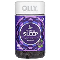 OLLY Restful Sleep Gummy Supplement with Melatonin & L-theanine Chamomile, BlackBerry...