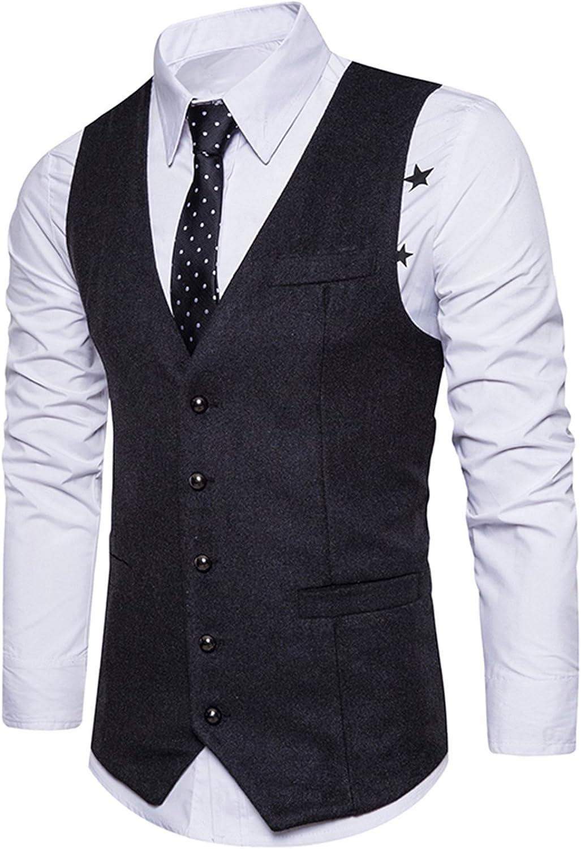 Boom Fashion Gilet panciotto uomo sartoriale elegante casual cerimonia Matrimonio Lana Giacca Slim Fit Blazer