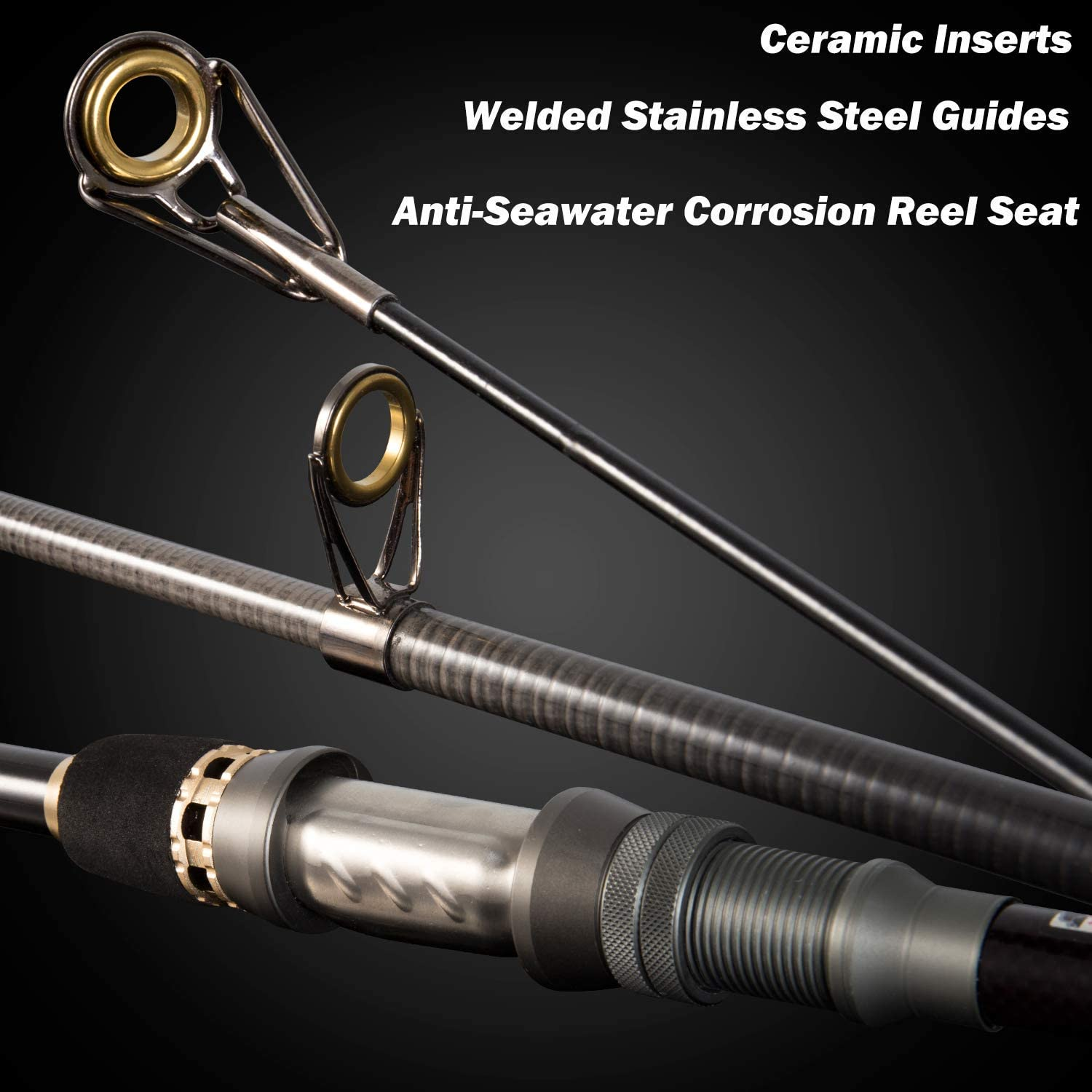 PLUSINNO Telescopic Fishing Rod Pole Spinning Fishing Rod Carbon Fiber Travel Rod for Saltwater Freshwater Rods