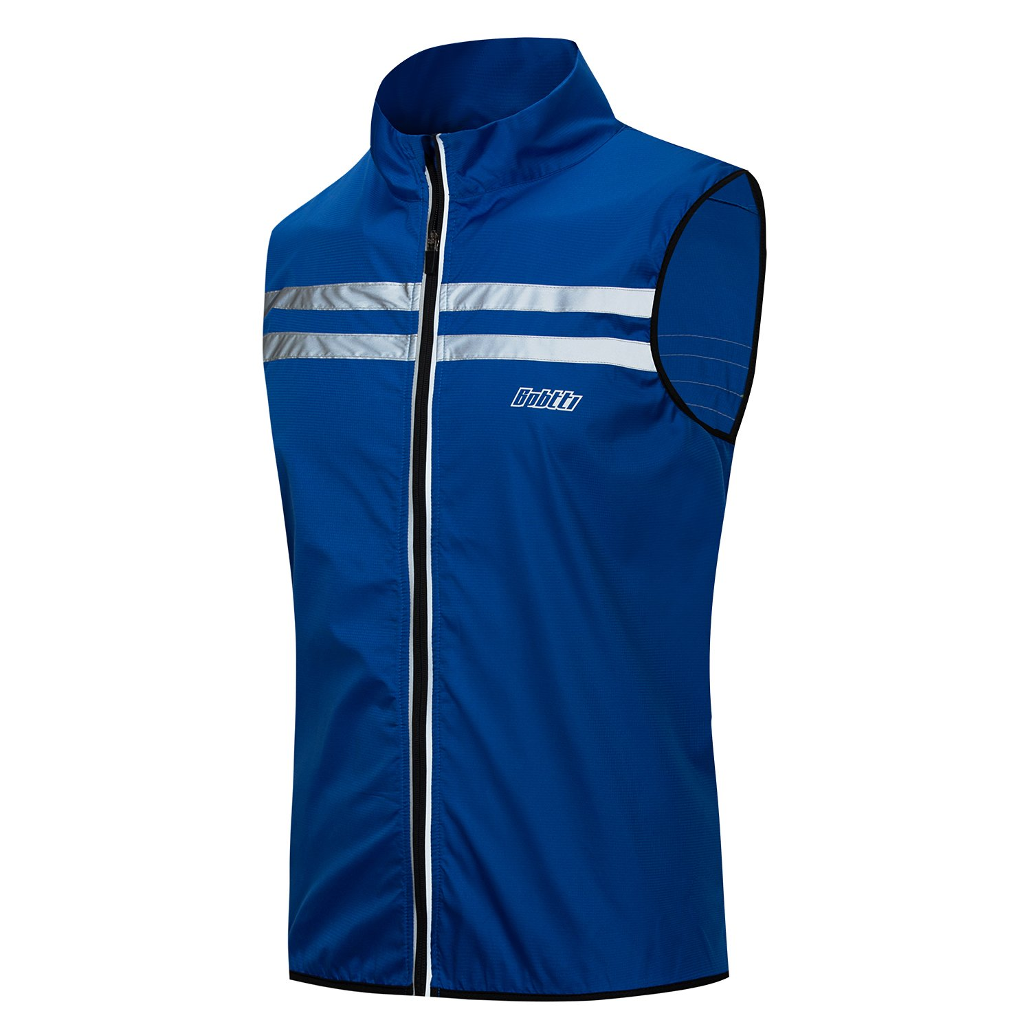 Bpbtti Men's Hi-Viz Safety Running Cycling Vest(Large - Chest 40-42 Royal Blue)