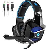 【DEAL】Gaming Headset PC, EasySMX Headphones with Foldable Mic LED 3.5mm Stereo for PS4 PC Computer Game