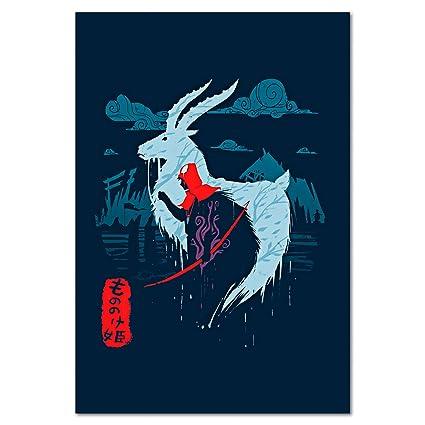 Amazon.com  Princess Mononoke Prince Ashitaka Poster aa3fe60822