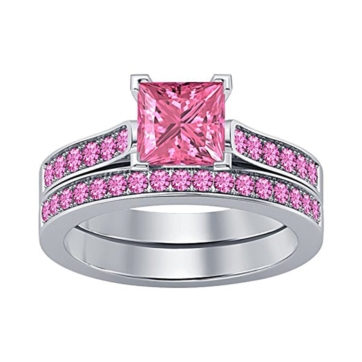 Amazon.com: Forever Collection Women\'s Jewelry 2.75 CT Princess Cut ...