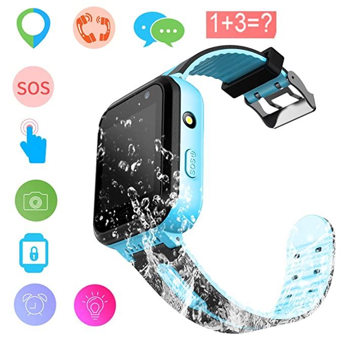 Kids Smart Watch - GPS Tracker Waterproof Child Watch Phone Digital Wrist Watch SOS Alarm Clock